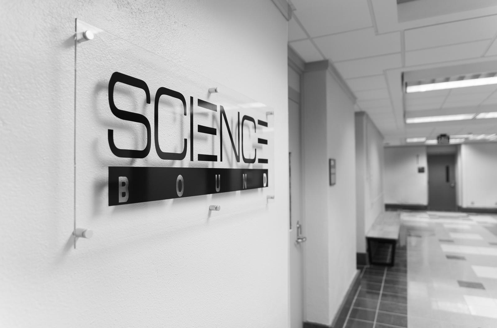background image of Science Bound signage